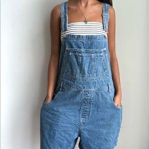 Vintage bib denim overall shorts XL/1XL 1.